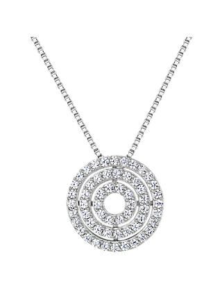 Jools by Jenny Brown Cubic Zirconia Circle Row Necklace, Silver