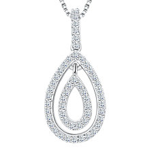 Buy Jools by Jenny Brown Cubic Zirconia Suspended Oval Necklace, Silver Online at johnlewis.com