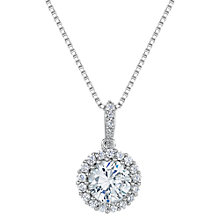 Buy Jools by Jenny Brown Cubic Zirconia Circled Stone Pendant Necklace, Silver Online at johnlewis.com