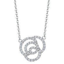 Buy Jools by Jenny Brown Cubic Zirconia Swirled Links Necklace, Silver Online at johnlewis.com