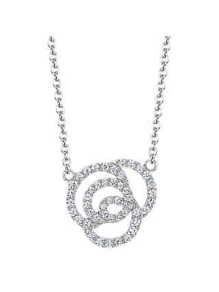 Jools by Jenny Brown Cubic Zirconia Swirled Links Necklace, Silver