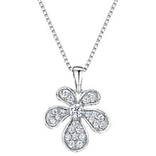 Buy Jools by Jenny Brown Cubic Zirconia Abstract Bloom Necklace, Silver Online at johnlewis.com