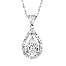 Buy Jools by Jenny Brown Cubic Zirconia Suspended Pear Stone Necklace Online at johnlewis.com