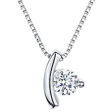 Buy Jools by Jenny Brown Cubic Zirconia Suspended Drop Necklace, Silver Online at johnlewis.com