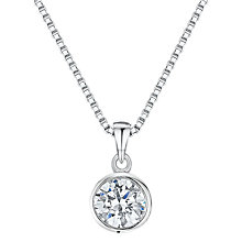 Buy Jools by Jenny Brown Cubic Zirconia Simple Circle Necklace, Silver Online at johnlewis.com