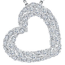 Buy Jools by Jenny Brown Cubic Zirconia Asymmetric Valentine Necklace, Silver Online at johnlewis.com