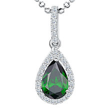 Buy Jools by Jenny Brown Cubic Zirconia Jewelled Teardrop Pendant Necklace Online at johnlewis.com