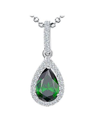 Jools by Jenny Brown Cubic Zirconia Jewelled Teardrop Pendant Necklace
