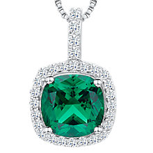 Buy Jools by Jenny Brown Cubic Zirconia Curved Square Necklace Online at johnlewis.com