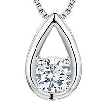 Buy Jools by Jenny Brown Cubic Zirconia Brimming Teardrop Necklace, Silver Online at johnlewis.com