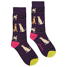 Buy Joules Brilliant Bamboo Dog Ankle Socks, Multi Online at johnlewis.com
