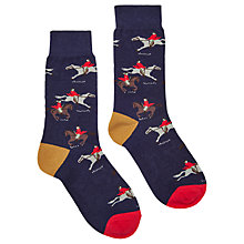 Buy Joules Brilliant Bamboo Horse Ankle Socks, Navy/Multi Online at johnlewis.com