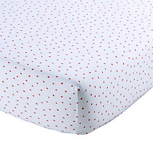 Buy Christy Speckle Print Cotton Jersey Fitted Sheet Online at johnlewis.com