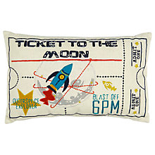 Buy Christy Ticket To The Moon Embroidered Cushion Online at johnlewis.com