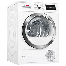 Buy Bosch WTW85470GB Condenser Tumble Dryer with Heat Pump, 8kg Load, A++ Energy Rating, White Online at johnlewis.com