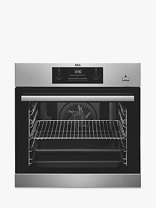 AEG BES351010M Built-In Multifunction Single Oven, Stainless Steel