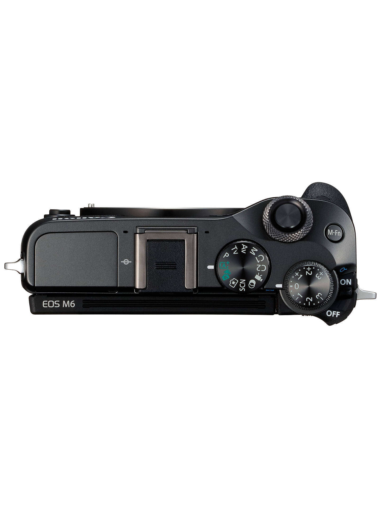 "BuyCanon EOS M6 Compact System Camera with EF-M 15-45mm IS STM Lens, HD 1080p, 24.2MP, Wi-Fi, Bluetooth, NFC, 3.0"" LCD Tiltable Touch Screen, Black Online at johnlewis.com"
