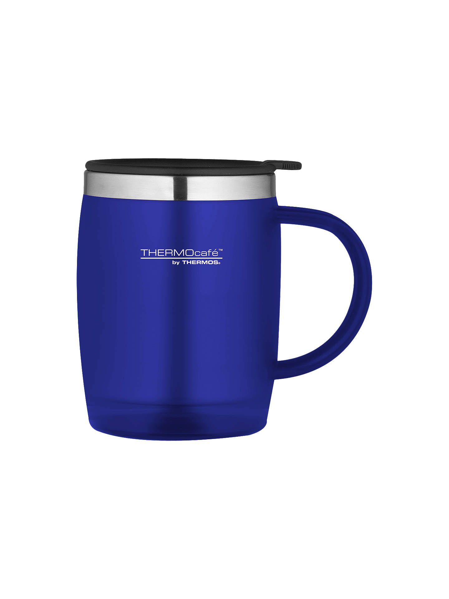 BuyThermos Thermocafe Soft Touch Desk Mug, 450ml, Blue Online at johnlewis.com