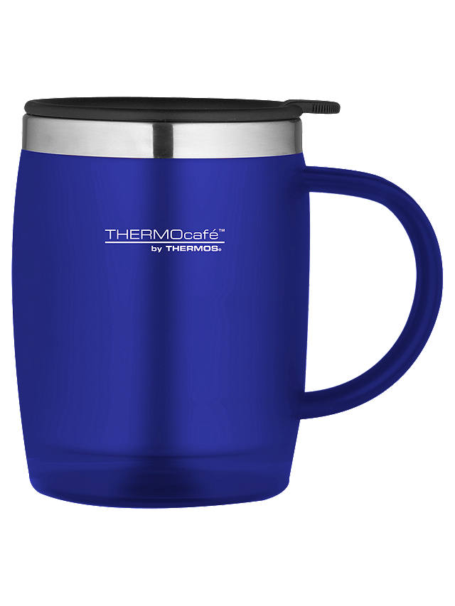 Buy Thermos ThermoCafé Soft Touch Desk Mug, 450ml, Blue Online at johnlewis.com