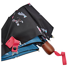 Buy Joules Chic Dogs Umbrella, Black/Multi Online at johnlewis.com