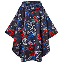 Buy Joules Floral Poncho, Navy/Multi Online at johnlewis.com