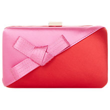 Buy Dune Berklay Bow Colour Block Clutch Bag, Red Online at johnlewis.com