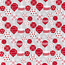 Buy Craft Cotton Co. Baubles Print Fabric, Red/White Online at johnlewis.com
