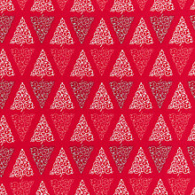 Buy Craft Cotton Co. Swirly Tree Print Fabric, Red Online at johnlewis.com
