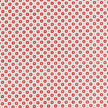 Buy Makower UK Geometric Snowflake Print Fabric, White/Red Online at johnlewis.com
