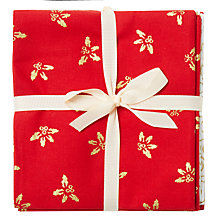 Buy John Louden Traditional Fat Quarter Fabrics, Pack of 5, Red/Cream Online at johnlewis.com