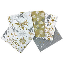 Buy Craft Cotton Co. Metallic Christmas Print Fat Quarter Fabrics, Pack of 5, Silver/Gold Online at johnlewis.com