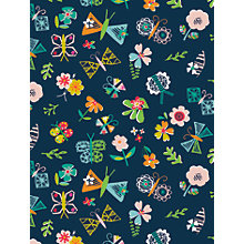 Buy Dashwood Studio Club Tropicana Moonlight Print Craft Fabric, Navy Online at johnlewis.com