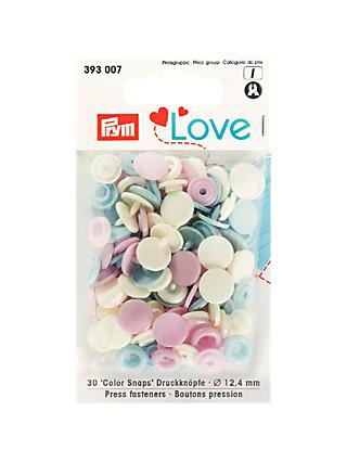 Prym Press Snap Colour Fasteners, 12.4mm, Pack of 30, Pastels