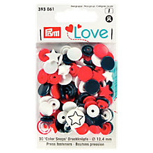 Buy Prym Circles and Stars Press Snap Colour Fasteners, 12.4mm, Pack of 30, Multi Online at johnlewis.com