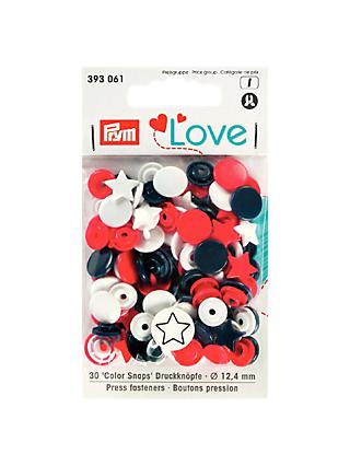 Prym Circles and Stars Press Snap Colour Fasteners, 12.4mm, Pack of 30, Multi