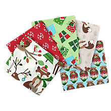 Buy Craft Cotton Co. Woodland Friends Print Fat Quarter Fabrics, Pack of 5, Green/Red Online at johnlewis.com