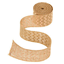 Buy John Lewis Hessan Trim Ribbon, 5m, Rose Gold Chevron Online at johnlewis.com