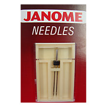 Buy Janome Twin Sewing Machine Needle, Size 14 Online at johnlewis.com