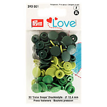 Buy Prym Press Snap Colour Fasteners, 12mm, Pack of 30 Online at johnlewis.com
