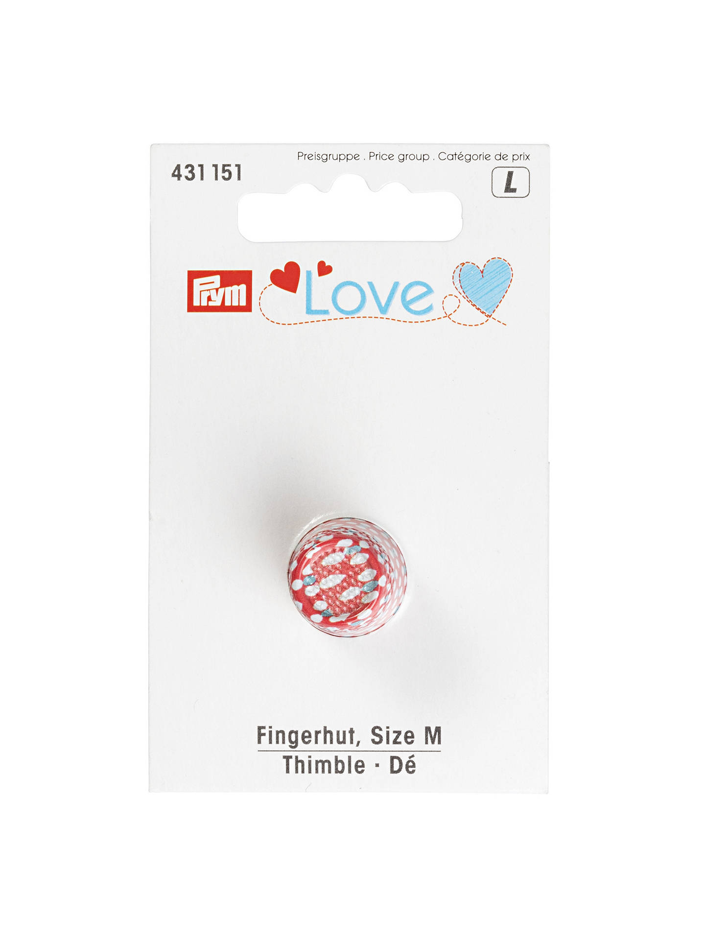 Buy Prym Love Thimble, Medium Online at johnlewis.com