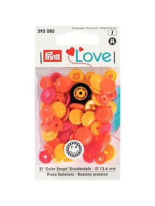 Prym Press Snap Colour Fasteners, 13.6mm, Pack of 21, Assorted