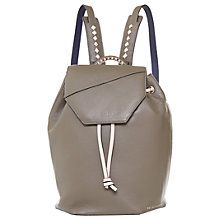 Buy Ted Baker Colour By Numbers Cereza Leather Backpack Online at johnlewis.com