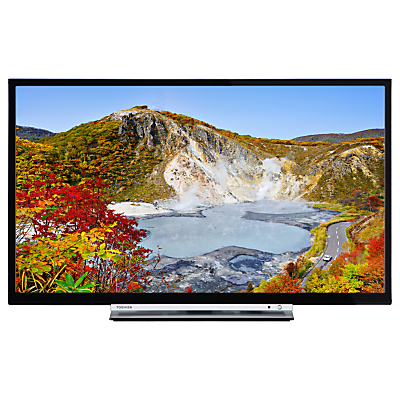 Toshiba 24W3753DB LED HD Ready 720p Smart TV, 24 with Built-In Wi-Fi, Freeview HD & Freeview Play, Black