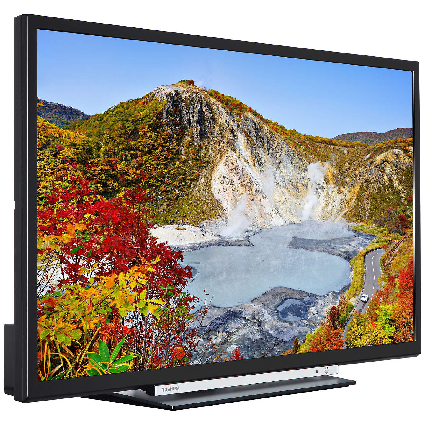 "BuyToshiba 24W3753DB LED HD Ready 720p Smart TV, 24"" with Built-In Wi-Fi, Freeview HD & Freeview Play, Black Online at johnlewis.com"