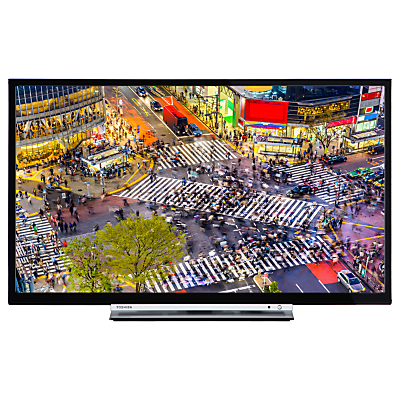 Toshiba 24D3753DB LED HD Ready 720p Smart TV/DVD Combi, 24 with Built-In Wi-Fi, Freeview HD & Freeview Play, Black