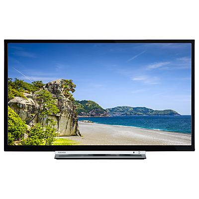 Toshiba 32D3753DB LED HD Ready 720p Smart TV/DVD Combi, 32 with Built-In Wi-Fi, Freeview HD & Freeview Play, Black