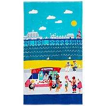 Buy John Lewis National Treasures Beside the Seaside Beach Towel, Blue Online at johnlewis.com