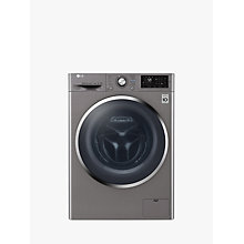 Buy LG F4J6AM2S Freestanding Washer Dryer, 8kg Wash/4kg Dry Load, A Energy Rating, 1400rpm Spin, Shiny Steel Online at johnlewis.com