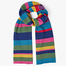 Buy John Lewis Cashmere Stripe Scarf, Multi Online at johnlewis.com