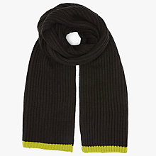 Buy Kin by John Lewis Ribbed Scarf, Black Online at johnlewis.com